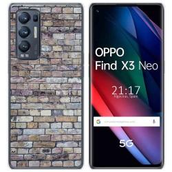 Funda Gel Tpu para Oppo Find X3 Neo diseño Ladrillo 02 Dibujos
