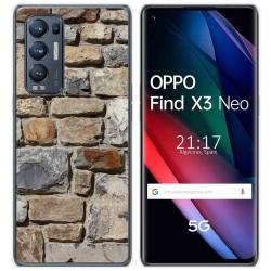 Funda Gel Tpu para Oppo Find X3 Neo diseño Ladrillo 03 Dibujos