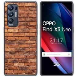 Funda Gel Tpu para Oppo Find X3 Neo diseño Ladrillo 04 Dibujos
