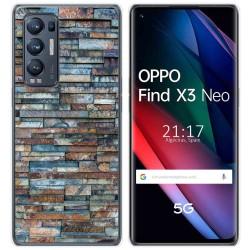 Funda Gel Tpu para Oppo Find X3 Neo diseño Ladrillo 05 Dibujos