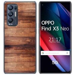 Funda Gel Tpu para Oppo Find X3 Neo diseño Madera 02 Dibujos