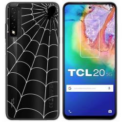 Funda Gel Transparente para TCL 20 5G diseño Araña Dibujos