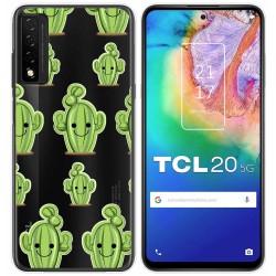 Funda Gel Transparente para TCL 20 5G diseño Cactus Dibujos