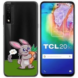 Funda Gel Transparente para TCL 20 5G diseño Conejo Dibujos