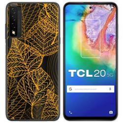 Funda Gel Transparente para TCL 20 5G diseño Hojas Dibujos