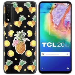 Funda Gel Transparente para TCL 20 5G diseño Piña Dibujos