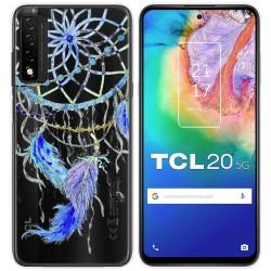 Funda Gel Transparente para TCL 20 5G diseño Plumas Dibujos