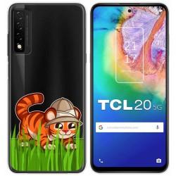 Funda Gel Transparente para TCL 20 5G diseño Tigre Dibujos