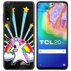Funda Gel Transparente para TCL 20 5G diseño Unicornio Dibujos