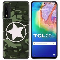 Funda Gel Tpu para TCL 20 5G diseño Camuflaje 01 Dibujos