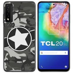 Funda Gel Tpu para TCL 20 5G diseño Camuflaje 02 Dibujos