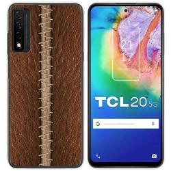 Funda Gel Tpu para TCL 20 5G diseño Cuero 01 Dibujos
