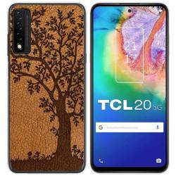 Funda Gel Tpu para TCL 20 5G diseño Cuero 03 Dibujos