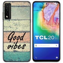 Funda Gel Tpu para TCL 20 5G diseño Madera 01 Dibujos