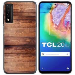 Funda Gel Tpu para TCL 20 5G diseño Madera 02 Dibujos