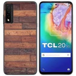 Funda Gel Tpu para TCL 20 5G diseño Madera 03 Dibujos