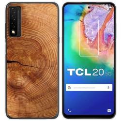 Funda Gel Tpu para TCL 20 5G diseño Madera 04 Dibujos