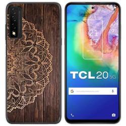 Funda Gel Tpu para TCL 20 5G diseño Madera 06 Dibujos