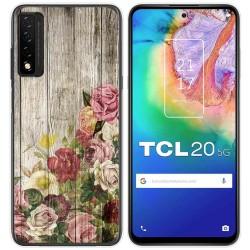Funda Gel Tpu para TCL 20 5G diseño Madera 08 Dibujos