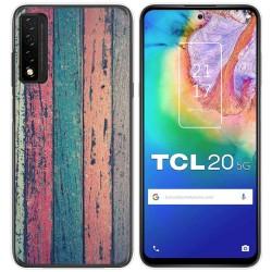 Funda Gel Tpu para TCL 20 5G diseño Madera 10 Dibujos