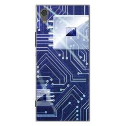 Funda Gel Tpu para Sony Xperia XA1 Diseño Circuito Dibujos