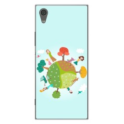 Funda Gel Tpu para Sony Xperia XA1 Diseño Familia Dibujos