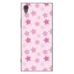 Funda Gel Tpu para Sony Xperia XA1 Diseño Flores Dibujos