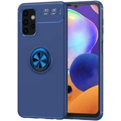 Funda Magnetica Soporte con Anillo Giratorio 360 para Samsung Galaxy A32 4G Azul