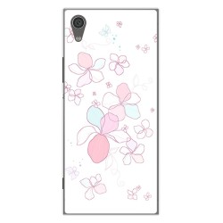 Funda Gel Tpu para Sony Xperia XA1 Diseño Flores Minimal Dibujos