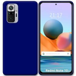 Funda Silicona Gel TPU Azul para Xiaomi Redmi Note 10 Pro