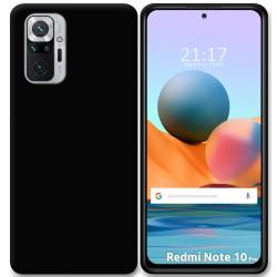 Funda Silicona Gel TPU Negra para Xiaomi Redmi Note 10 Pro