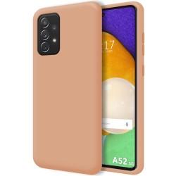 Funda Silicona Líquida Ultra Suave para Samsung Galaxy A52 / A52 5G color Rosa
