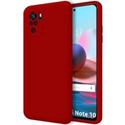 Funda Silicona Líquida Ultra Suave para Xiaomi Redmi Note 10 / 10S color Roja