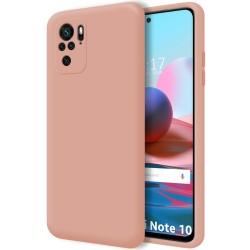 Funda Silicona Líquida Ultra Suave para Xiaomi Redmi Note 10 / 10S color Rosa