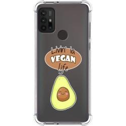 Funda Silicona Antigolpes para Motorola Moto G10 / G30 diseño Vegan Life Dibujos