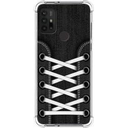 Funda Silicona Antigolpes para Motorola Moto G10 / G30 diseño Zapatillas 02 Dibujos