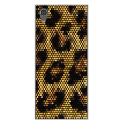 Funda Gel Tpu para Sony Xperia XA1 Diseño Leopardo Dibujos