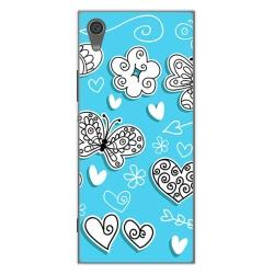 Funda Gel Tpu para Sony Xperia XA1 Diseño Mariposas Dibujos