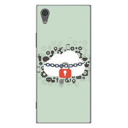 Funda Gel Tpu para Sony Xperia XA1 Diseño Nube Dibujos