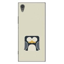Funda Gel Tpu para Sony Xperia XA1 Diseño Pingüino Dibujos