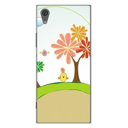 Funda Gel Tpu para Sony Xperia XA1 Diseño Primavera Dibujos