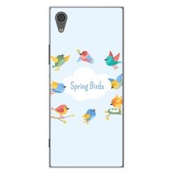 Funda Gel Tpu para Sony Xperia XA1 Diseño Spring Birds Dibujos