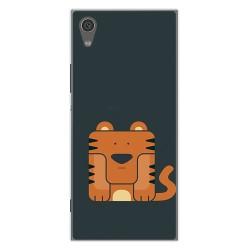 Funda Gel Tpu para Sony Xperia XA1 Diseño Tigre Dibujos