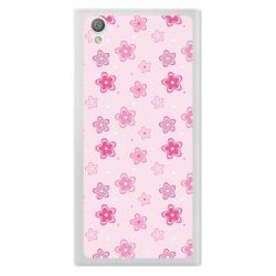 Funda Gel Tpu para Sony Xperia L1 Diseño Flores Dibujos