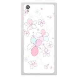 Funda Gel Tpu para Sony Xperia L1 Diseño Flores Minimal Dibujos