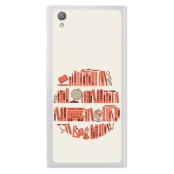 Funda Gel Tpu para Sony Xperia L1 Diseño Mundo Libro Dibujos