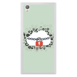 Funda Gel Tpu para Sony Xperia L1 Diseño Nube Dibujos