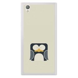 Funda Gel Tpu para Sony Xperia L1 Diseño Pingüino Dibujos