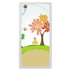Funda Gel Tpu para Sony Xperia L1 Diseño Primavera Dibujos