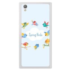 Funda Gel Tpu para Sony Xperia L1 Diseño Spring Birds Dibujos